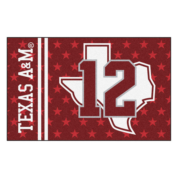 Texas A&M Aggies Team Helmet Accent Rug - Team Sports Gift