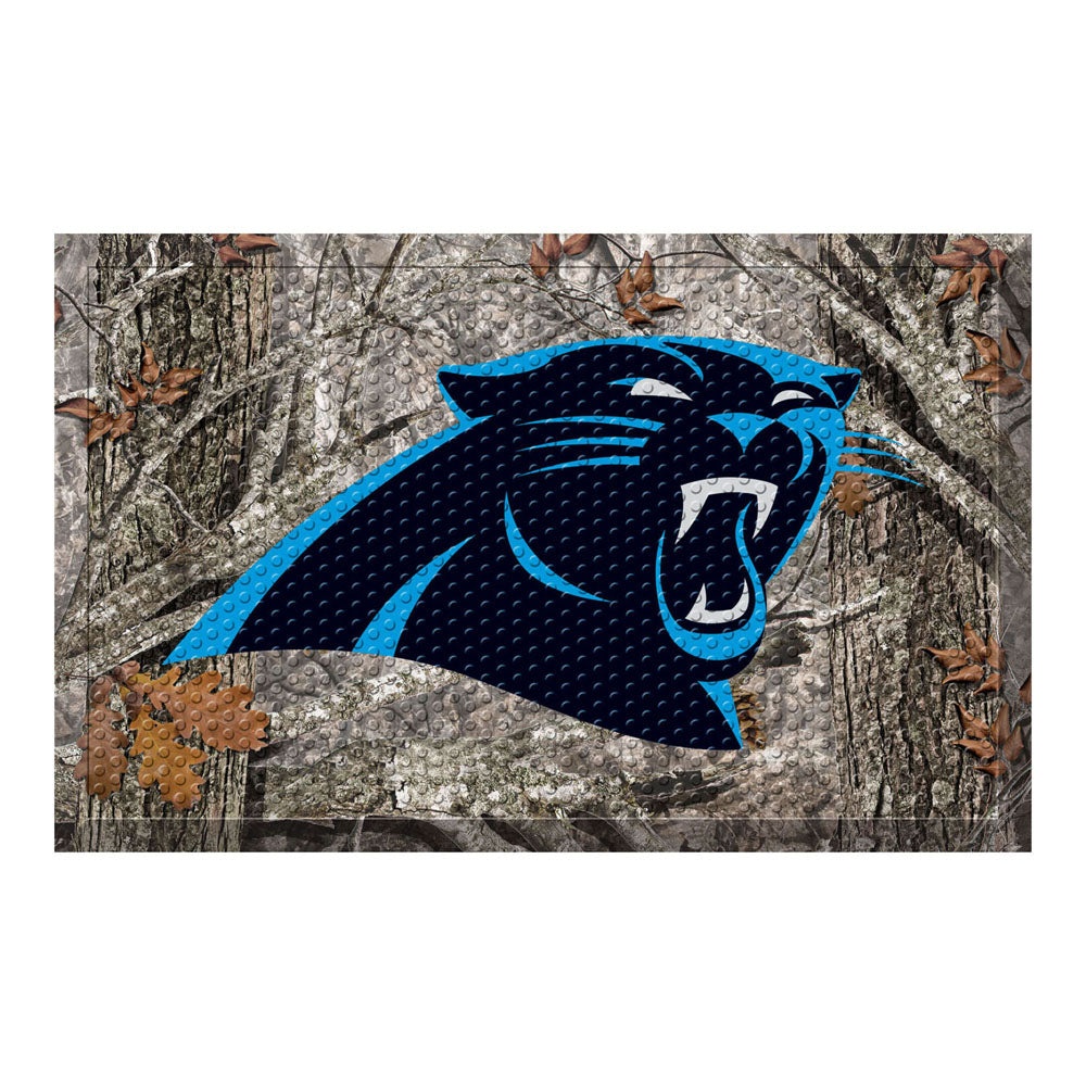 Carolina Panthers Camo Entry Floor Mat