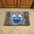 Edmonton Oilers Camo Entry Floor Mat on Floor