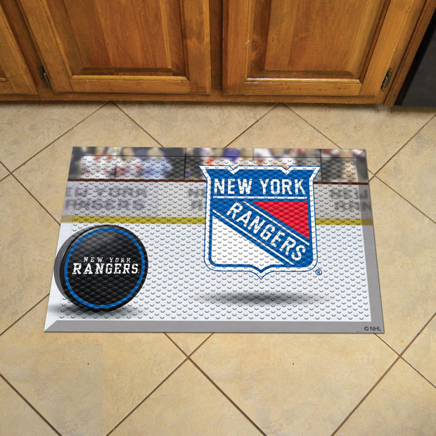 New York Rangers Home Floor Mat on Floor
