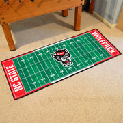NC State Wolfpack Gridiron Football Runner Rug on Floor