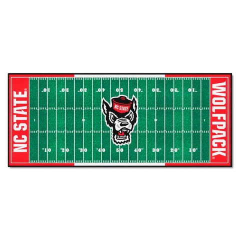 NC State Wolfpack Gridiron Football Runner Rug