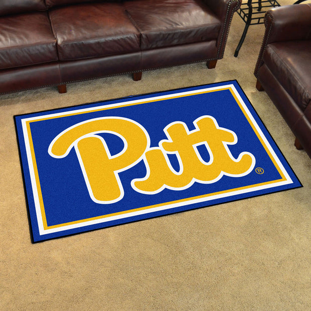 Pittsburgh Panthers Ultra Plush Area Rug 4x6