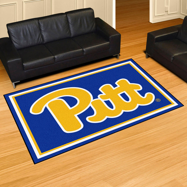 Pittsburgh Panthers Ultra Plush Area Rug 5x8