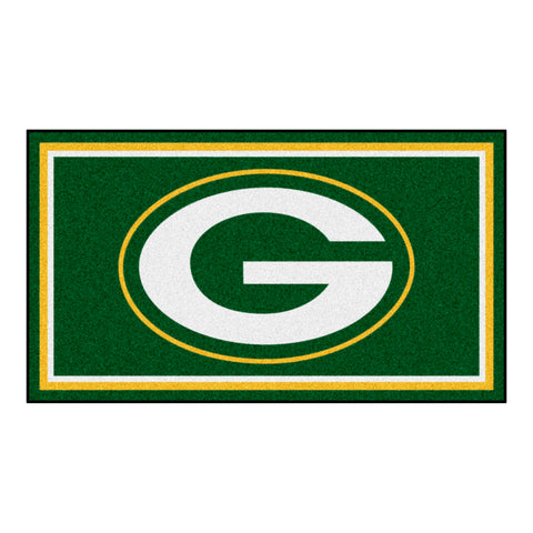 "Green Bay Packers ""Oval G"" Logo Plush Rug"