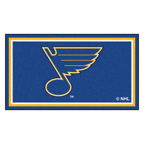 "St. Louis Blues ""Music Note"" Primary Logo Plush Rug"