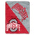 Ohio State Buckeyes Split Logo Game Day Blanket