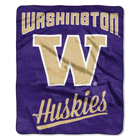 Washington Huskies Treasured Alumni Raschel Throw
