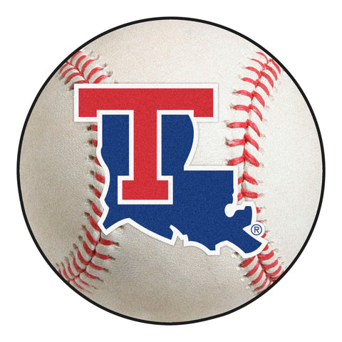Louisiana Tech Bulldogs Grand Slam Baseball Area Rug