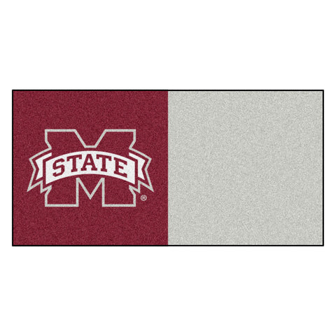 Mississippi State Bulldogs Maroon/Gray Team Proud Carpet Tiles