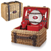 San Francisco 49ers Picnic Basket for 2