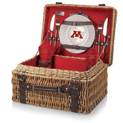 Minnesota Golden Gophers Picnic Basket for 2 in Red