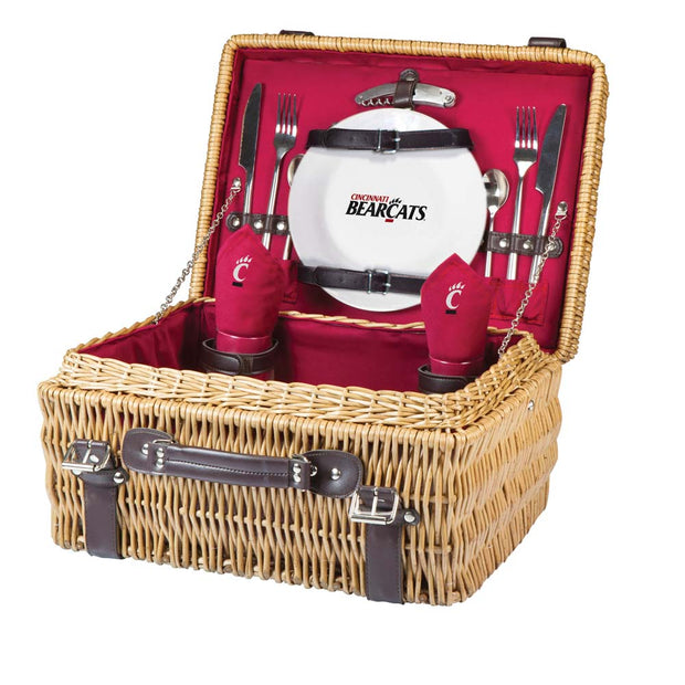 Cincinnati Bearcats Picnic Basket for 2 in Red