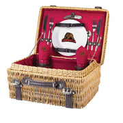 Cornell Big Red Picnic Basket for 2 in Red
