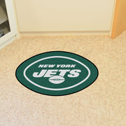 New York Jets Team Mascot Accent Rug - Team Sports Gift