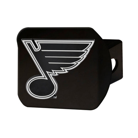 St. Louis Blues Black Hitch Receiver Cover