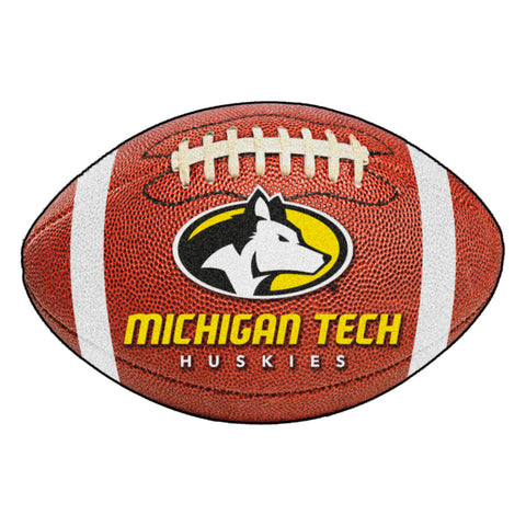 Michigan Tech Huskies Touchdown Football Area Rug