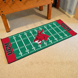 Central Missouri Mules Gridiron Football Runner Rug on Floor