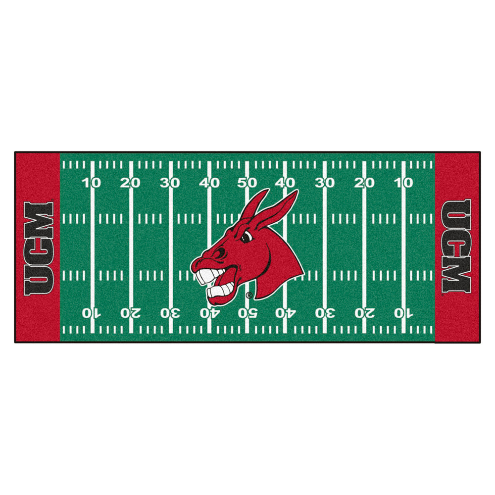 Central Missouri Mules Gridiron Football Runner Rug