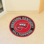 Western Kentucky Hilltoppers Team Emblem Throw Rug in Room