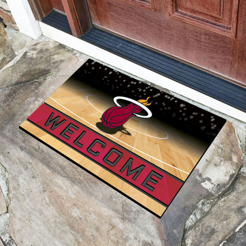 Miami Heat Crumb Rubber Welcome Mat in Room