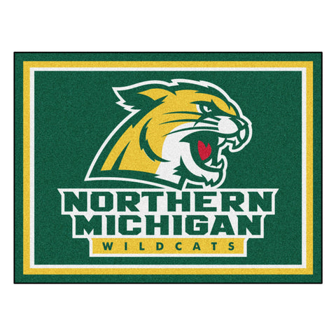 Northern Michigan Wildcats 8x10 Plush Area Rug