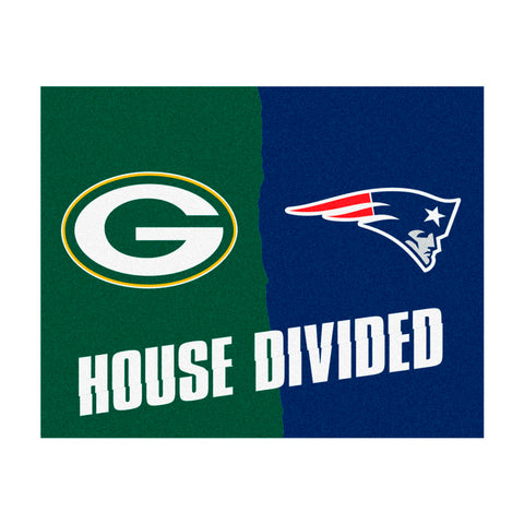 Green Bay Packers vs New England Patriots Rivalry Rug