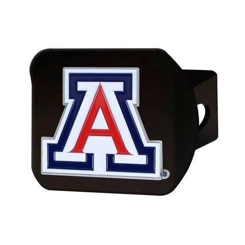 Arizona Wildcats Black Chrome with Color Logo Hitch Receiver Cover