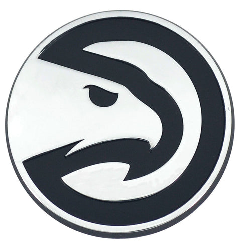 Atlanta Hawks Chrome Emblem for Auto, Laptop or Mailbox