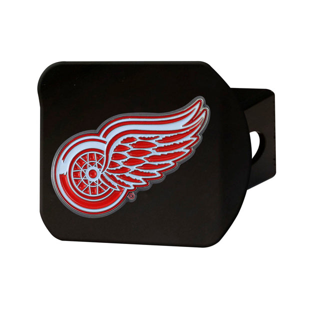 Detroit Red Wings Black Chrome w/ Color Logo Hitch Receiver Cover