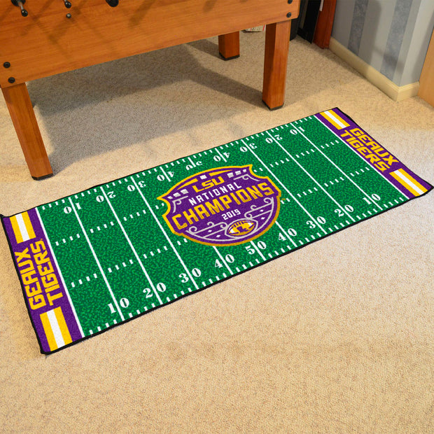 LSU Tigers CFP Football Champions Runner Rug