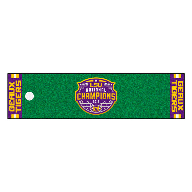 LSU Tigers Golf Mat with Championship Logo