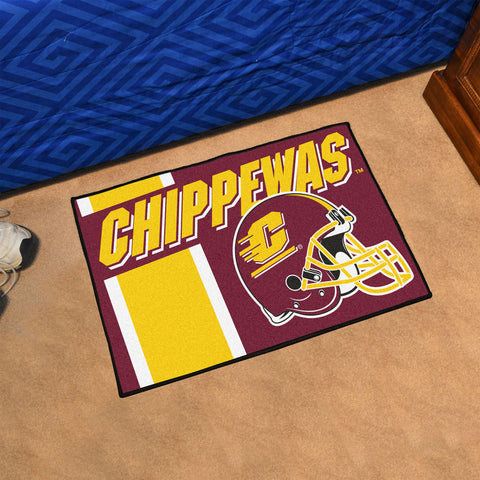 Central Michigan Chippewas Big Dawg Red Accent Rug