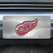Detroit Red Wings 3D Chrome Vanity Plate on Vehicle