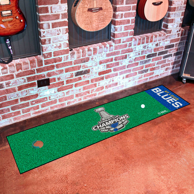 St. Louis Blues Stanley Cup 2019 Champions Golf Mat