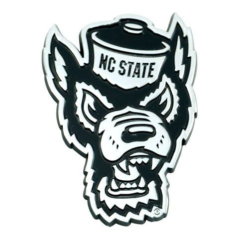 North Carolina State University Wolfpack Chrome Emblem for Auto, Laptop or Mailbox