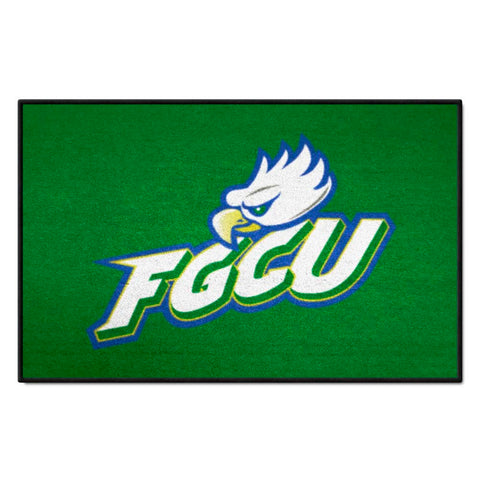 Florida Gulf Coast Eagles Green Tufted Area Rug