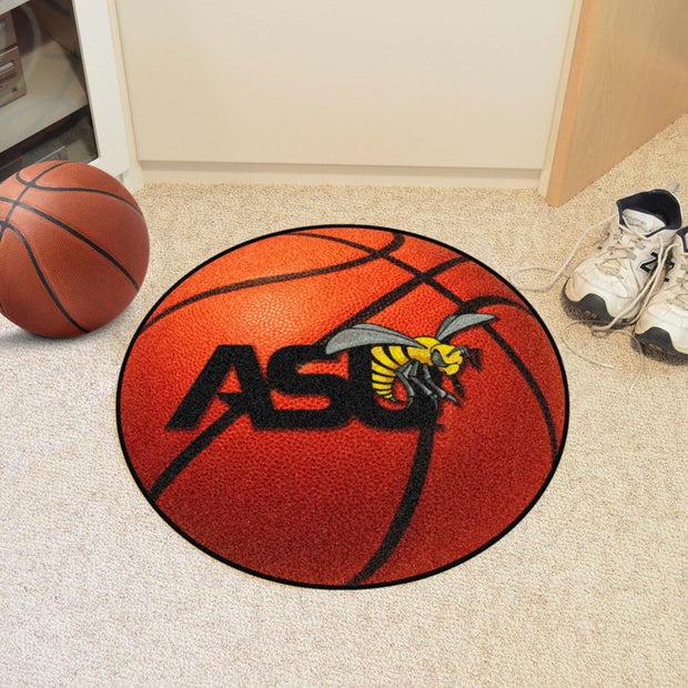 Alabama State Hornets Basketball Area Rug in Room
