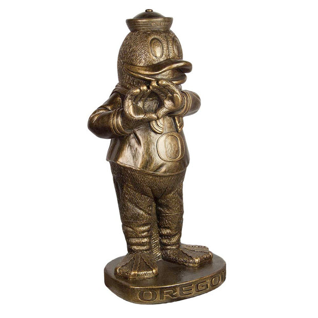 Oregon Ducks Yard Art Puddles the Duck Garden Statue in Bronze