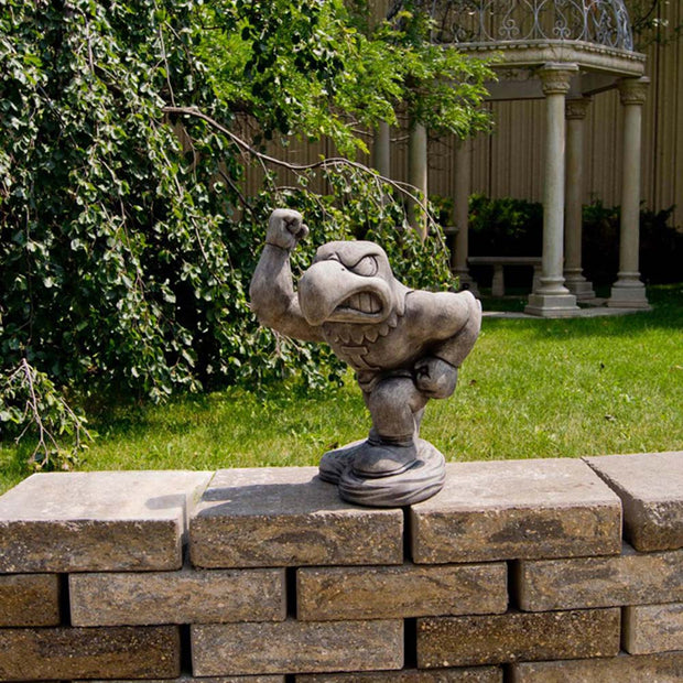 Iowa Hawkeyes Yard Art Herky the Hawk Garden Statue in Gray