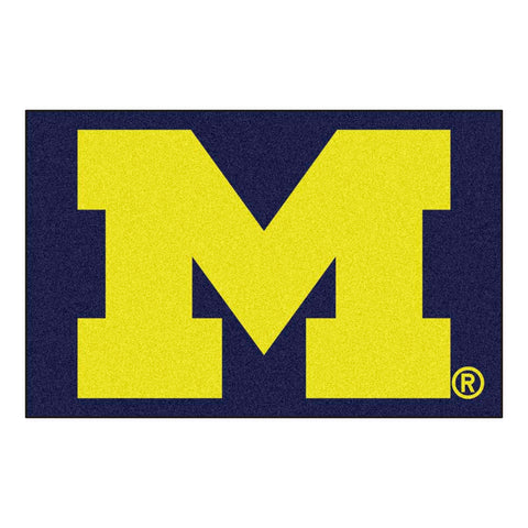 Michigan Wolverines Blue Tufted Area Rug