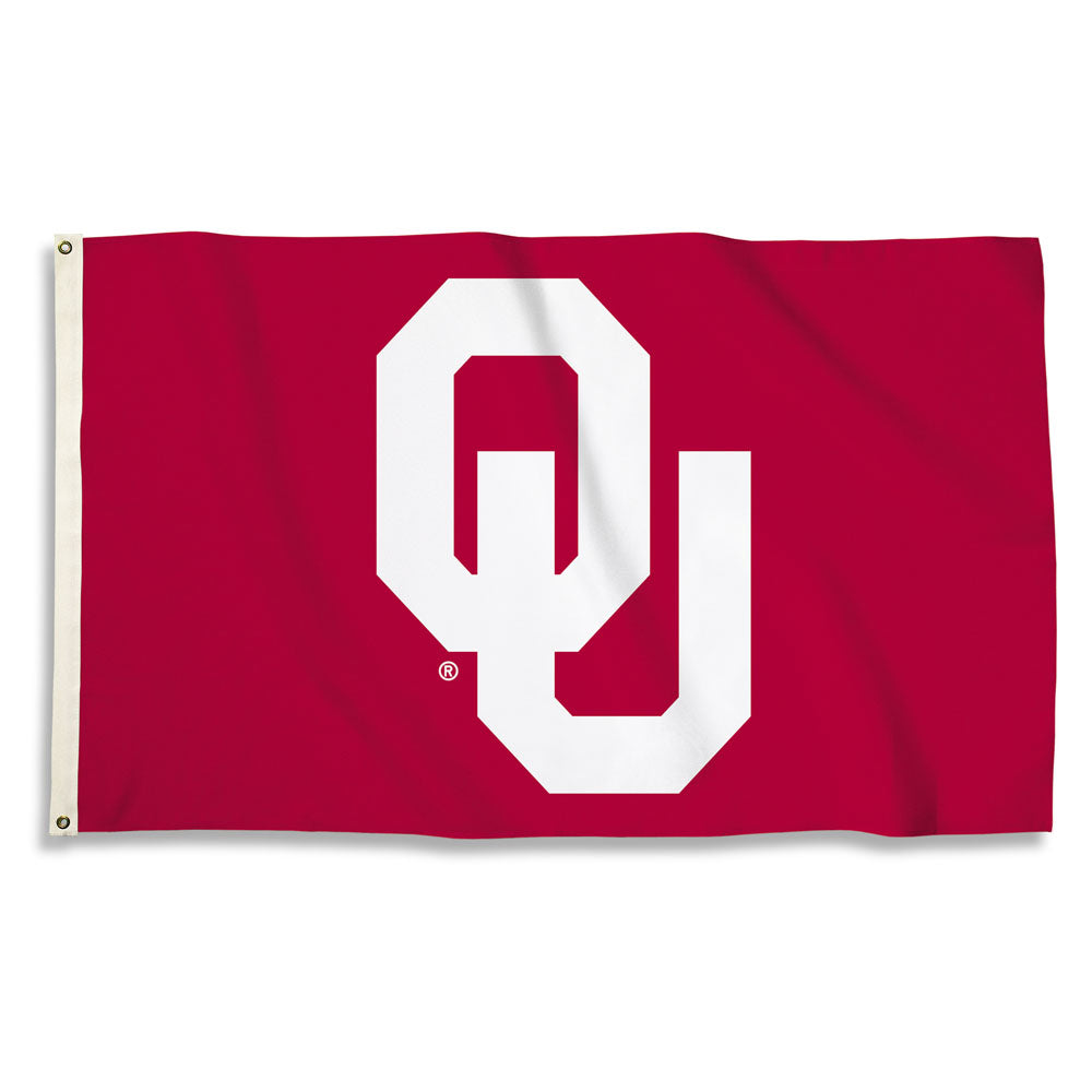 Oklahoma Sooners Team Logo Flag