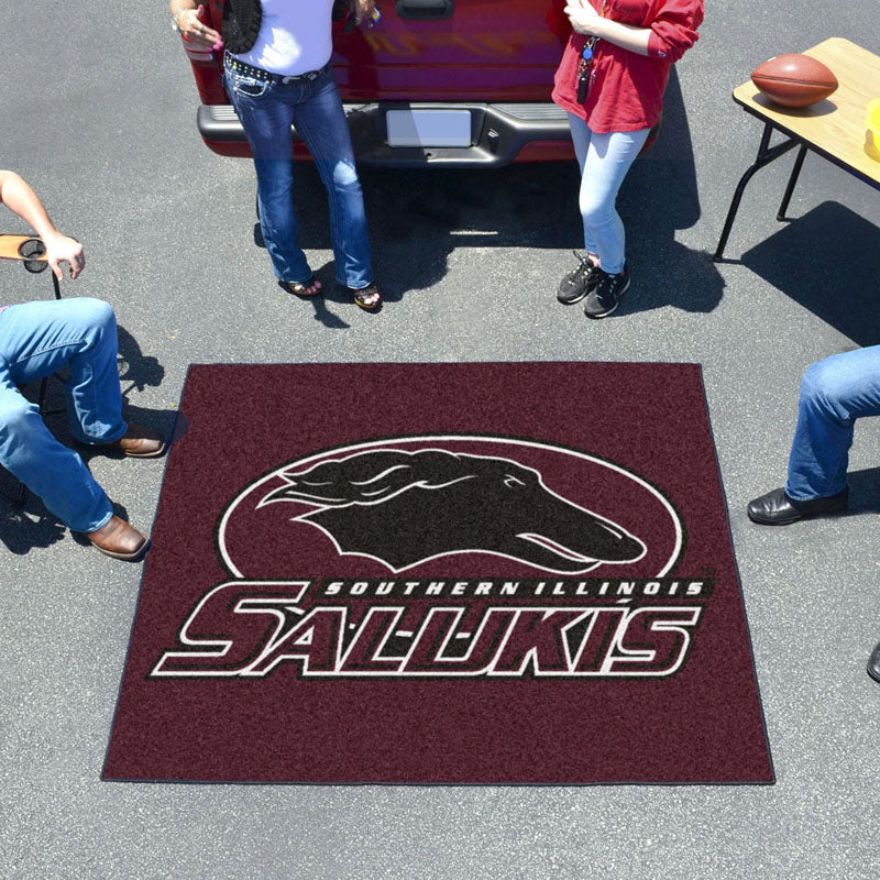 Southern Illinois Salukis Tufted Area Rug Tailgater Rug