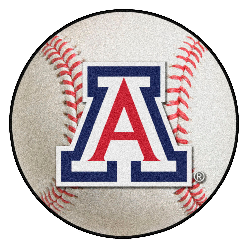 Arizona Wildcats Grand Slam Baseball Area Rug