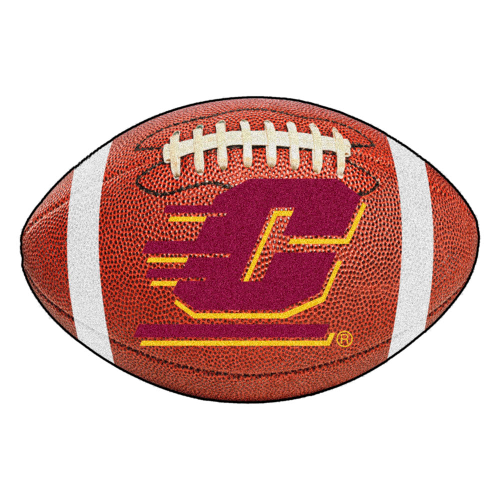 Central Michigan Chippewas Touchdown Football Area Rug