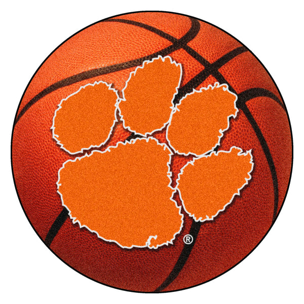 Clemson Tigers Basketball Area Rug