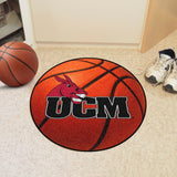 Central Missouri Mules Basketball Area Rug in Room
