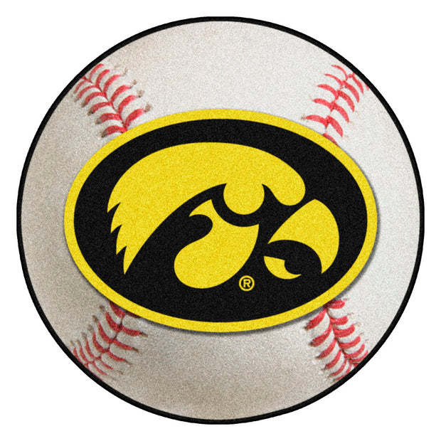 Iowa Hawkeyes Grand Slam Baseball Area Rug