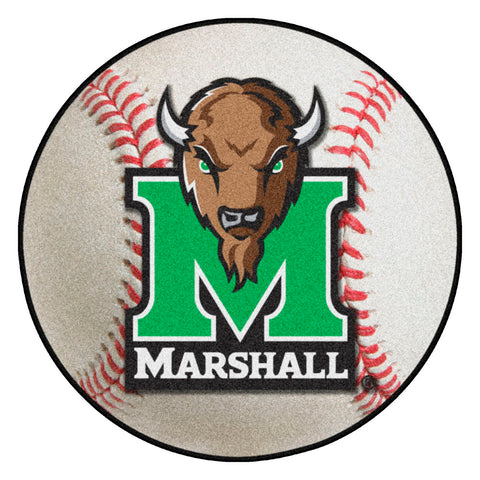 Marshall Thundering Herd Grand Slam Baseball Area Rug