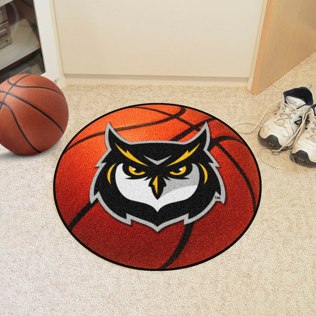 Kennesaw State Owls Basketball Area Rug in Room